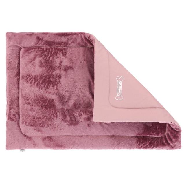 mata futerkowa dla psa w kolorze różówym